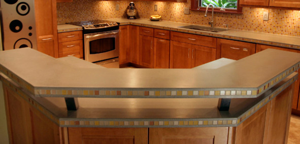 Kitchen Surround with Raised Bar - Contemporary - Kitchen Countertops - orange county - by Price ...