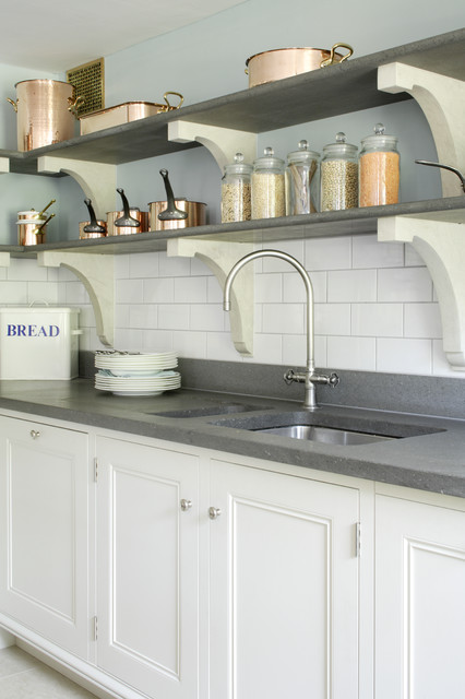 Kitchen tap with stone shelves - Transitional - Kitchen - Hampshire ...