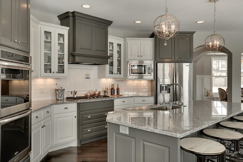 Espresso Kitchen Cabinets Color Schemes Grey