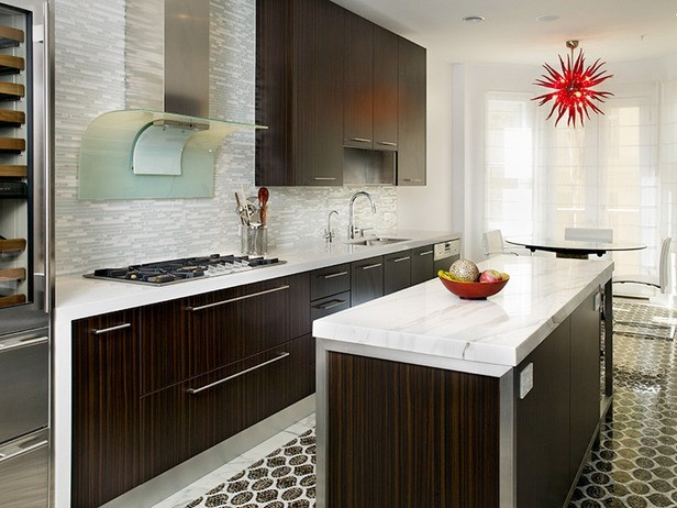 Modern Kitchen Tile Fascinating Kitchen Tile Design  Modern  Kitchen  Los Angeles Glass