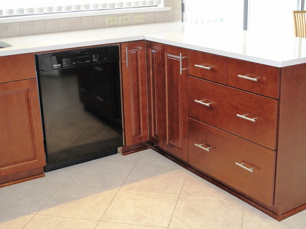 Kitchen Transformation done with Cabinet Refacing in Maple ...
