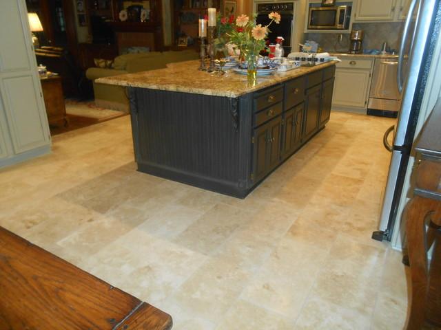 Kitchen Travertine Floor - Craftsman - Kitchen - Nashville ...