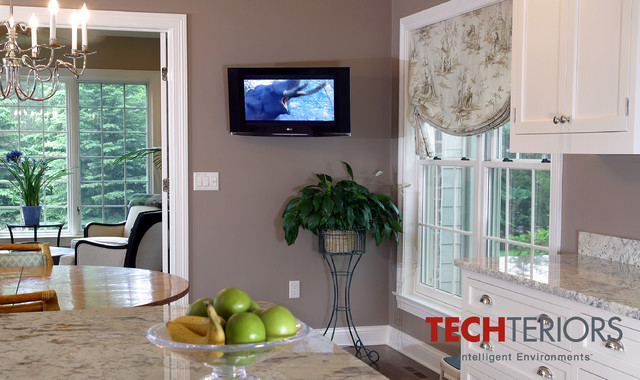 kitchen tv wall mounted traditional kitchen