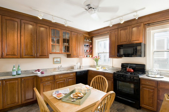 Kitchen update on a small budget traditional kitchen for Update your kitchen on a budget