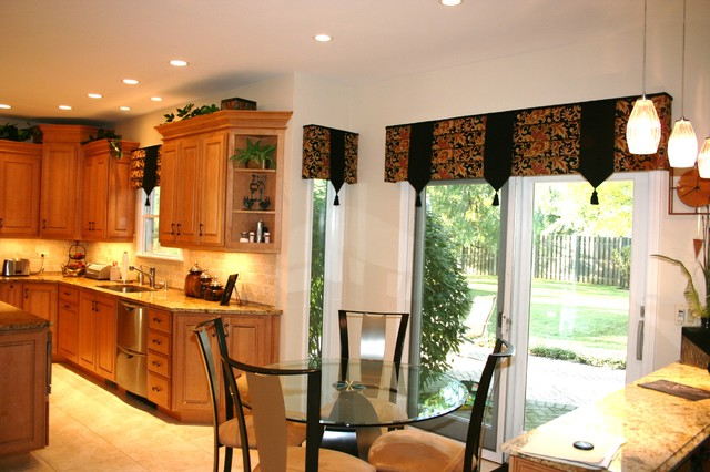 kitchen valances in buffalo grove, il - traditional - kitchen