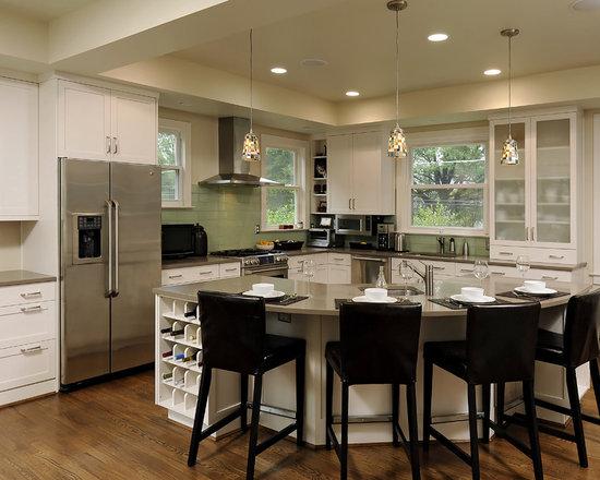 contemporary round island home design photos amp decor ideas