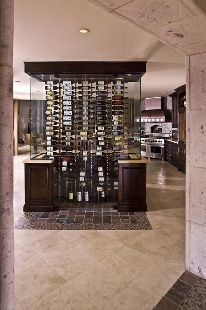 wine cellar kitchen remodel - eclectic - kitchen - other metro -vm concept interior design