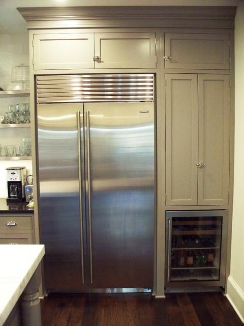 Kitchen W Sub Zero Refrigerator And Beverage Center Contemporary Kitchen Philadelphia By Mrs G Tv Amp Appliances