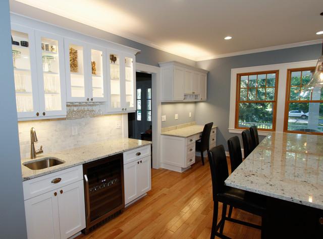 Kitchen Wet Bar And Desk Transitional Kitchen New York By Stone Art Design Home Design