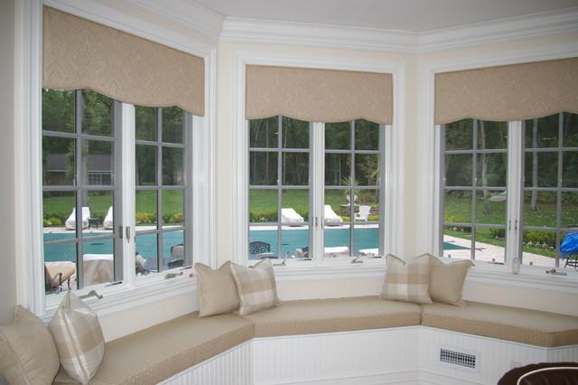 Kitchen Window Treatment Seat Farmhouse
