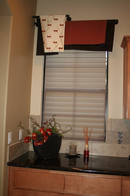Kitchen window treatments for Asian window coverings