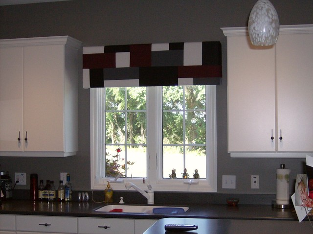 Window treatments for kitchen 2017 grasscloth wallpaper - Modern valances for kitchen ...