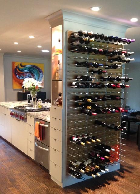 Marvelous Kitchen Wine Wall Storage Rack @ Nelson Residence Modern Kitchen