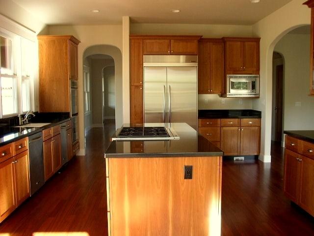 Kitchens With Black Granite Countertops : Kitchen with Absolute Black granite countertops. traditional-kitchen