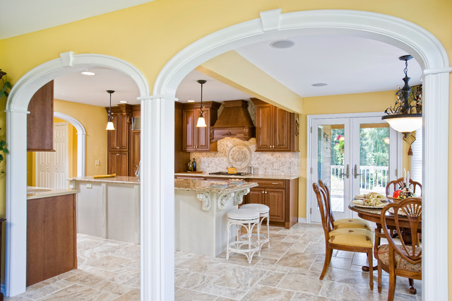 Kitchen With Arches Traditional Kitchen Detroit By