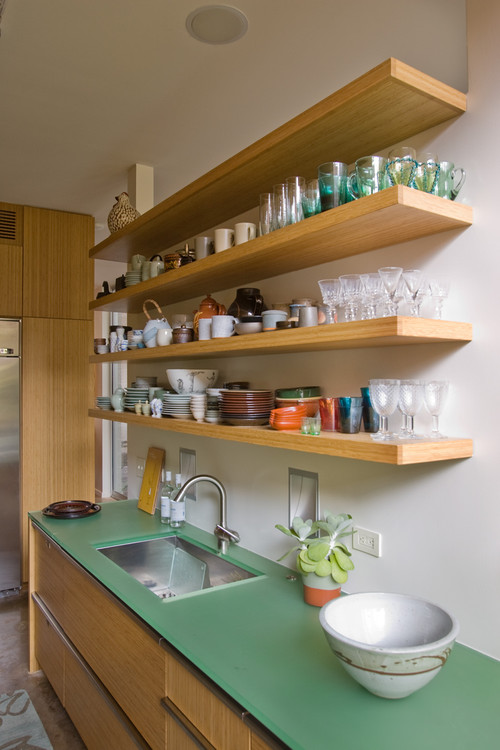 open shelves kitchen design ideas open shelving in the kitchen town amp country living 25381