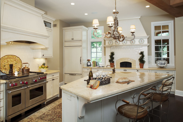 Kitchen With Built In Pizza Oven