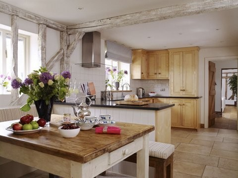 Kitchen with built in seating