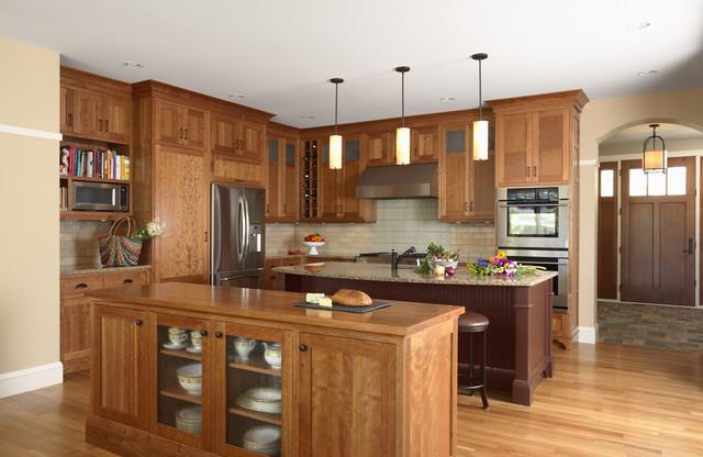 Kitchen with Celtic backsplash traditional-kitchen