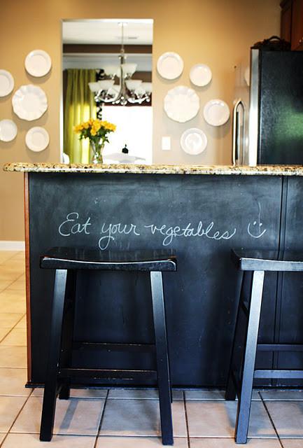 Kitchen with Chalkboard