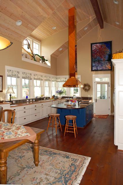 Kitchen With Copper Range Hood