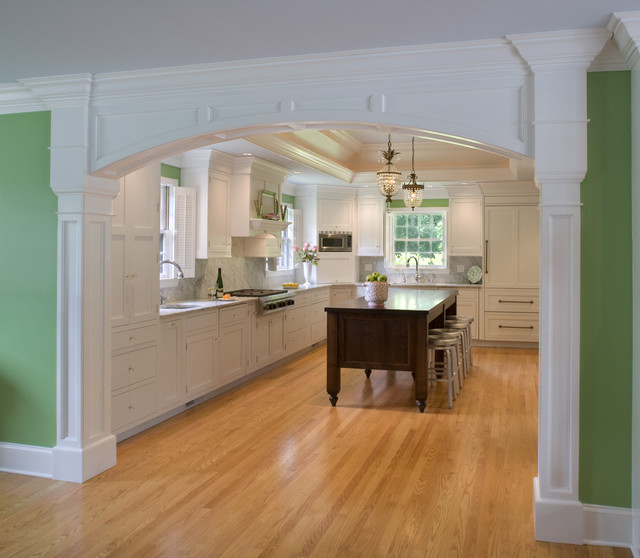Design For Living Room With Open Kitchen Houzz Home Design: Kitchen With Custom Arch