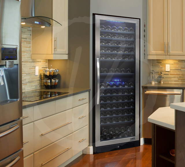 Kitchen with Designer Series Wine Cooler by Vinotemp - Contemporary - Kitchen - los angeles - by ...