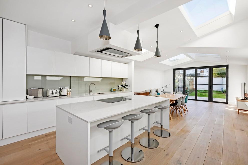 kitchen with garden view too