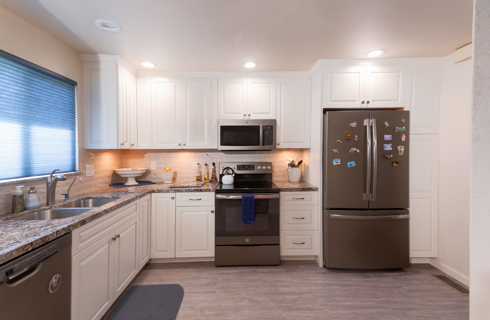 Kitchen with Granite Counters - Transitional - Kitchen ...