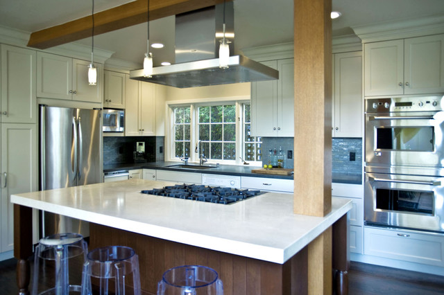 Kitchen with island cooktop - Contemporary - Kitchen - san francisco - by MN Builders