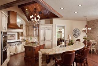 Kitchen With Secret Door Traditional Kitchen Houston