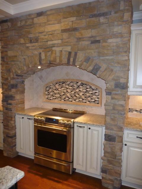 Kitchen With Stacked Stone Mantle Warner Robins Ga