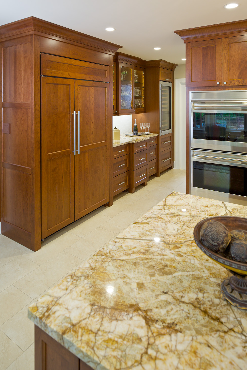 Kitchen With Stained Woods
