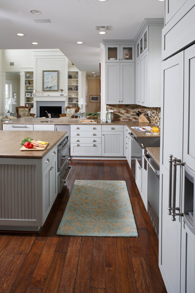 Kitchen with Stainless Steel Appliances - Traditional ...