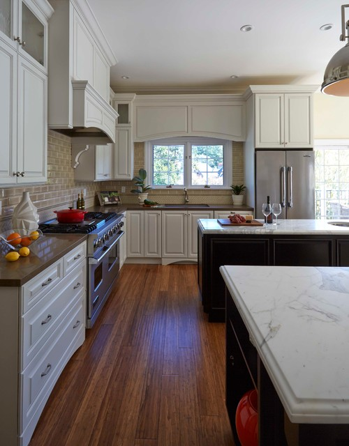 Kitchen With Two Tone Cabinetry And Counters Traditional Kitchen San Francisco By Santa