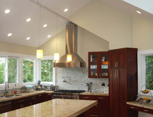 Kitchen With Vaulted Ceilings Contemporary Kitchen