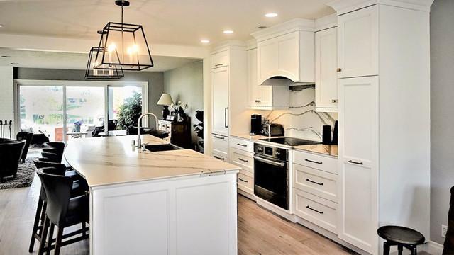 Kitchen With White Cabinets Westlake Village Ca 05 Kitchen Los Angeles By Showcase Kitchens And Baths