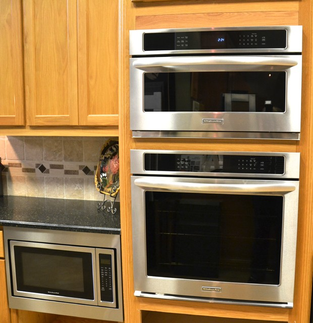 ge gas wall oven microwave combo kitchenaid 27 convection transitional kitchen reviews