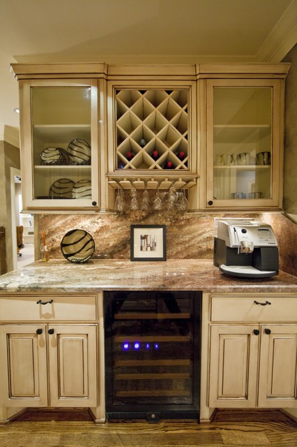 Kitchenette Bar Area Eclectic Kitchen Houston By