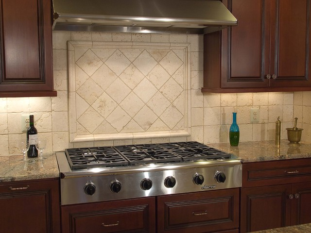 Kitchens and backsplashes - Traditional kitchen tile backsplash ideas ...