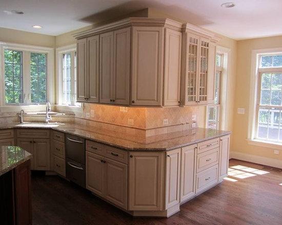 Wood Countertop Kitchen Design Ideas, Remodels & Photos with Linoleum ...