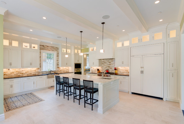 Kitchen Traditional Idea In Other With Recessed Panel Cabinets White