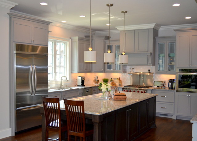 Kitchens by hughes edwards builders classique chic for Kitchen colors with white cabinets with papier carte grise