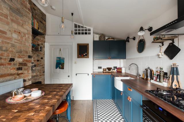 Inspiration för ett rustikt kök