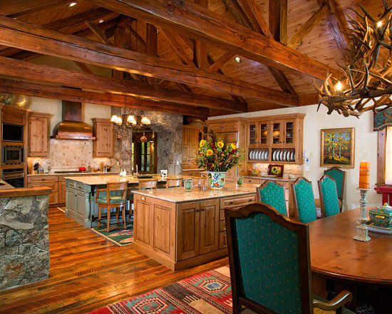Talking rock log cabin kitchen design ideas remodels for Log cabin kitchen backsplash ideas