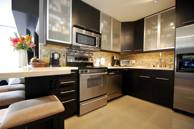 Kitchens contemporary kitchen los angeles by eliza for Contemporary kitchen cabinets los angeles