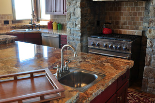 Traditional Kitchen By Pilot Point Tile, Stone U0026 Countertops Empire  Countertops, LLC. I Really Like The Chiseled Edge On This Granite ...