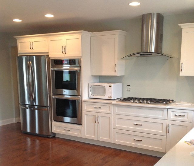 kitchens featuring top line appliances contemporary kitchen new