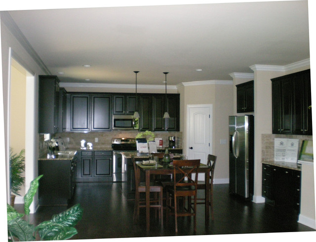 Kitchens in new homes featured in for sale by builder magazine in the