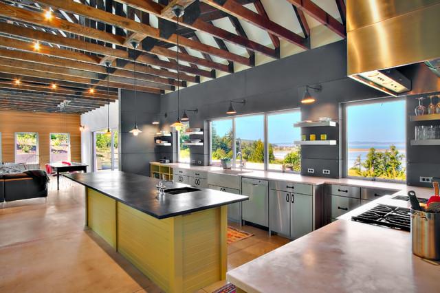 kitchens industrial kitchen seattle by j a s design build. Black Bedroom Furniture Sets. Home Design Ideas